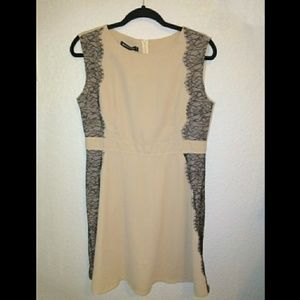 Cream Sleeveless Dress